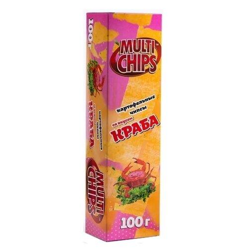 Чипсы MultiChips картофельные Краб, 100 г