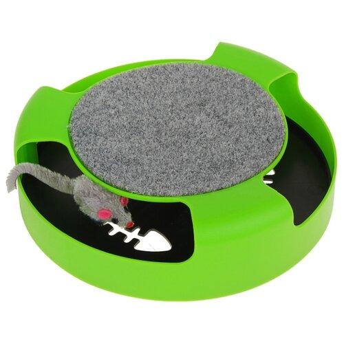 Игрушка для кошек Пижон (3244366) зеленый/черный/серый