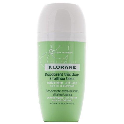 Фото - Klorane дезодорант, ролик, с белым алтеем для чувствительной кожи, 40 мл дезодорант шариковый сверхмягкий с белым алтеем 40 мл