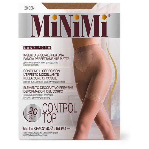 Колготки MiNiMi Control Top 20 den, размер 3-M, caramello (бежевый) колготки minimi slim control 20 den размер 3 m caramello бежевый