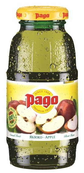 Сок Pago Яблоко, без сахара, 0.75 л