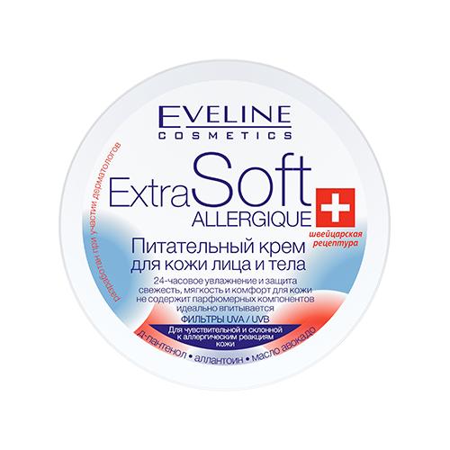 Крем для тела Eveline Cosmetics Extra Soft Allergique питательный, 200 мл smooth matt eveline cosmetics