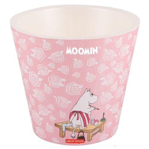 Кашпо Plast Team Moomin PT9110, 4л, 20х18.3 см пудровый