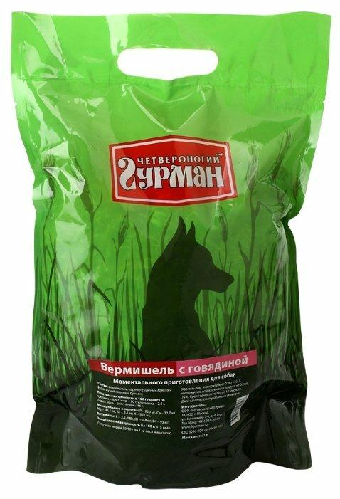 Корм для собак Четвероногий Гурман Вермишель моментального приготовления говядина