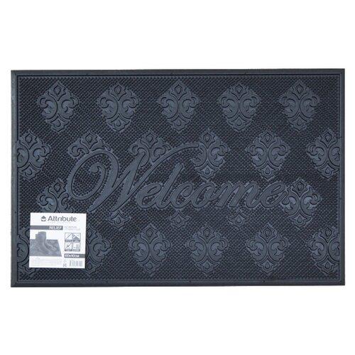 Придверный коврик Attribute Relief, размер: 0.6х0.4 м, темно-синийКовры и ковровые дорожки<br>