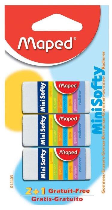 Maped Набор ластиков Mini Softy 3 шт.