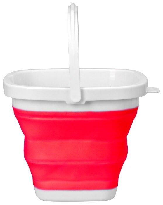 Ведро Fackelmann силиконовое складное (61565) 5 л красный/белый