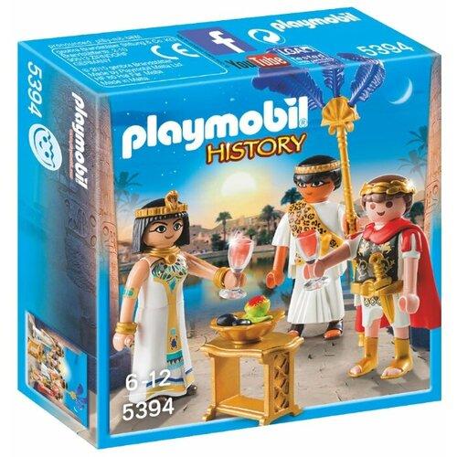 Купить Набор с элементами конструктора Playmobil History 5394 Цезарь и Клеопатра, Конструкторы
