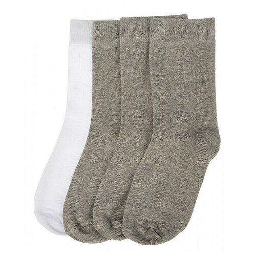 Купить Носки Oldos комплект из 4 пар, размер 23-25, белый/серый/серый/серый