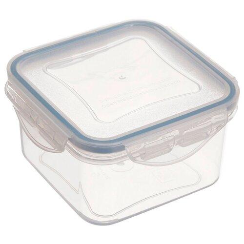 Фото - Tescoma Контейнер Freshbox 0.4 л квадратный голубой/прозрачный tescoma контейнер freshbox 2 л