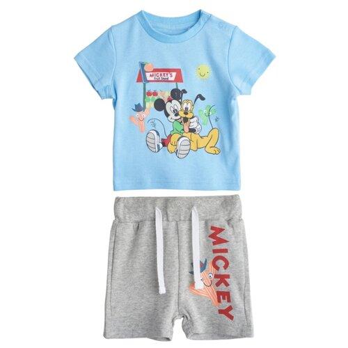 Комплект одежды kari Disney размер 9-12, серый/голубойКомплекты<br>