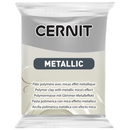 Купить Полимерная глина Cernit Metallic серебро (080), 56 г, Глина