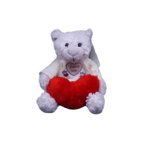 Мягкая игрушка Magic Bear Toys Мишка Вильгельм в свитере с сердцем 20 смМягкие игрушки<br>