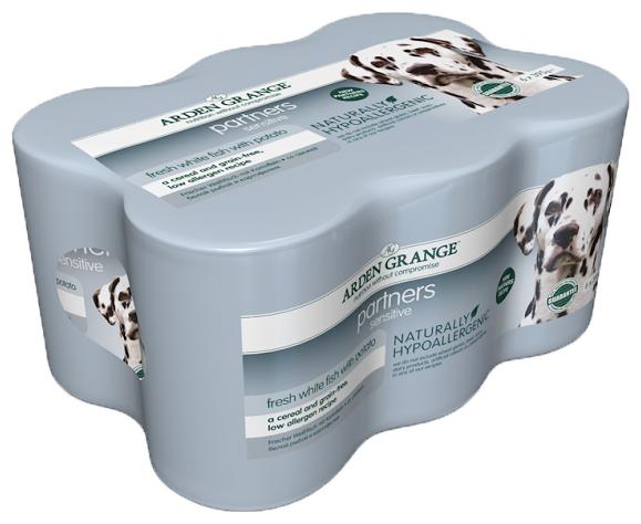 Корм для собак Arden Grange Partners Sensitive океаническая белая рыба и картофель консервированный корм