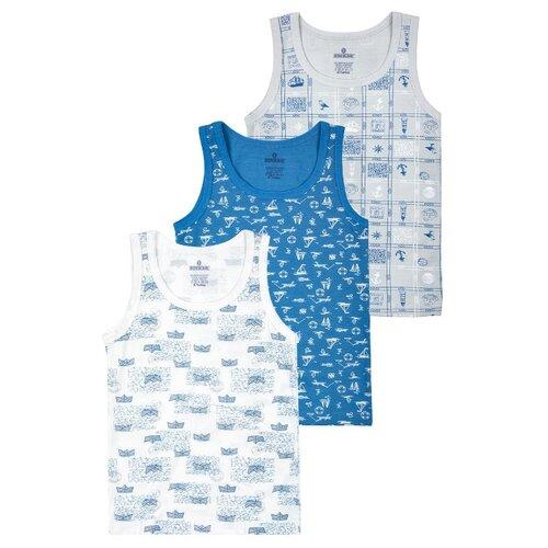 Купить Майка BAYKAR 3 шт., размер 158/164, белый/серый/синий, Белье и пляжная мода