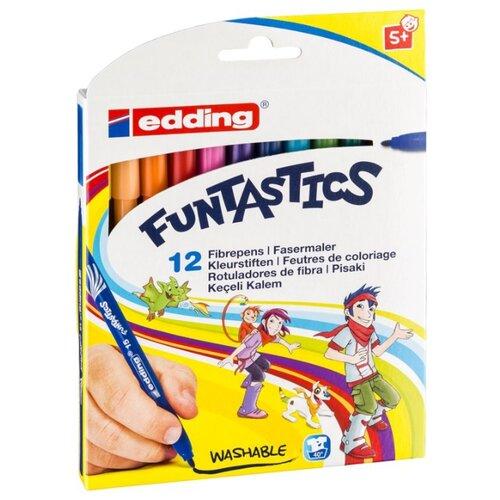 Edding Фломастеры 15-Funtastics 1 мм, 12 шт. разноцветные edding фломастеры 15 funtastics 1 мм 12 шт разноцветные
