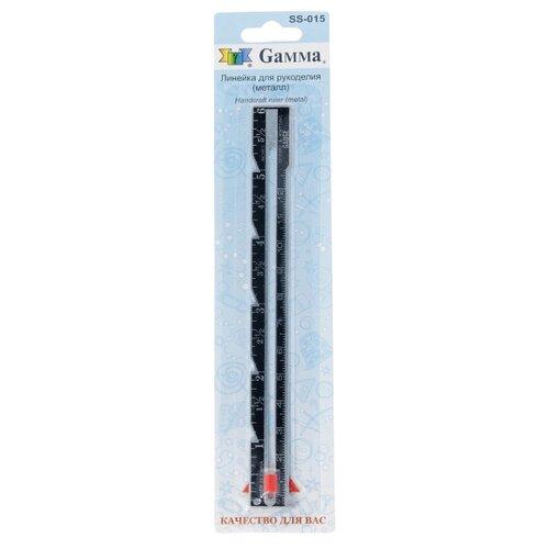 Купить Gamma Линейка швейная SS-015 15 см черный, Инструменты и аксессуары