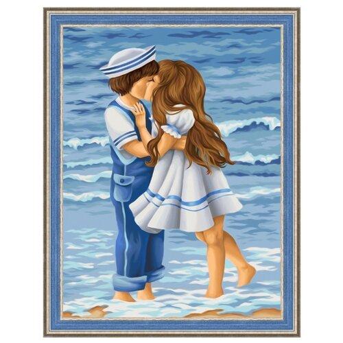 Купить Алмазная живопись Набор алмазной вышивки Встреча на берегу (АЖ-1642) 30х40 см, Алмазная вышивка