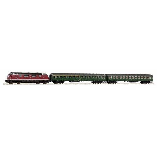 PIKO Стартовый набор BR 220, серия Hobby, 57132 , H0 (1:87) piko стартовый набор грузовой поезд taurus серия hobby 57177 h0 1 87