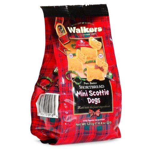 Печенье Walkers Mini Scottie dogs 125 г печенье песочное треугольнички walkers 170 г