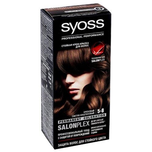 Syoss Color Стойкая крем-краска для волос, 5-8 Ореховый светло-каштановый крем краска для волос indola color red