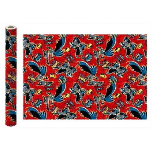 Бумага упаковочная ND Play Batman 100 x 70 см, 2 штуки красный бумага упаковочная nd play harry potter 2 3 100 х 70 см 2 шт красный