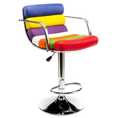 Стул Woodville Rainbow, металл/искусственная кожа, цвет: синий/белый/красный стул woodville kosta металл искусственная кожа цвет white black