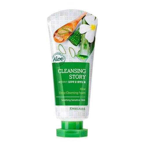 Welcos пенка для умывания с экстрактом алоэ Cleansing Story, 120 гОчищение и снятие макияжа<br>