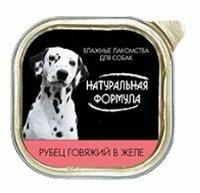 Корм для собак Натуральная Формула (0.3 кг) 14 шт. Консервы для собак Рубец говяжий в желе