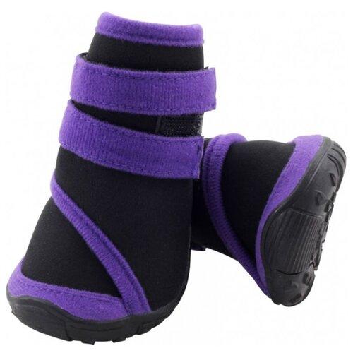 цена Ботинки для собак Triol 12241232/238 XL черный / фиолетовый онлайн в 2017 году