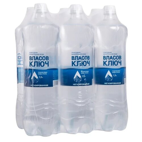 Вода минеральная Власов ключ негазированная, пластик, 6 шт. по 1.5 л денис анатольевич власов эликсир