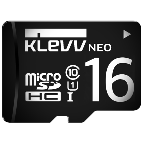 Карта памяти KLEVV microSDHC Class 10 UHS-I U1 16GB + SD adapter