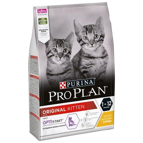 Корм для кошек Purina Pro Plan (3 кг) Junior kitten rich in Chicken dryКорма для кошек<br>