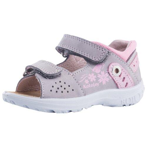Туфли КОТОФЕЙ размер 23, серый/розовыйОбувь для малышей<br>