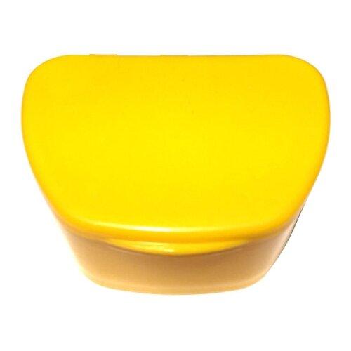 StaiNo Denture Box – Бокс пластиковый, 95*74*39 мм (желтый)Полоскание и уход за полостью рта<br>