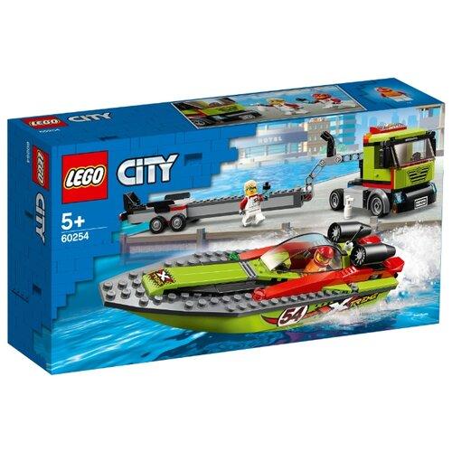 Конструктор LEGO City 60254 Транспортировщик скоростных катеров конструктор city lego lego mp002xb00c9t