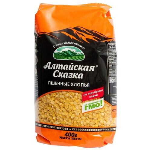 алтайская сказка смесь круп гречка рис в пакетах для варки 400 г 5х80 г Алтайская сказка Хлопья пшенные, 400 г
