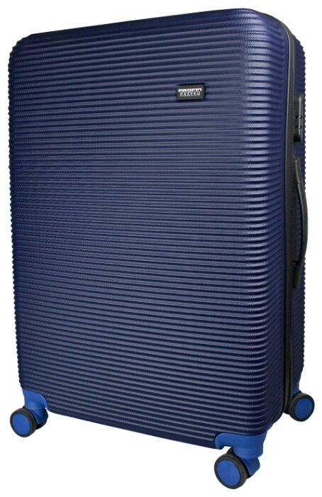 Чемодан PROFFI Tour+ пластиковый большой L 90 л, синий