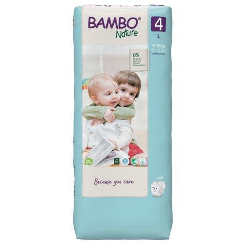 Купить BAMBO подгузники Nature 4 (7-14 кг) 48 шт., Подгузники