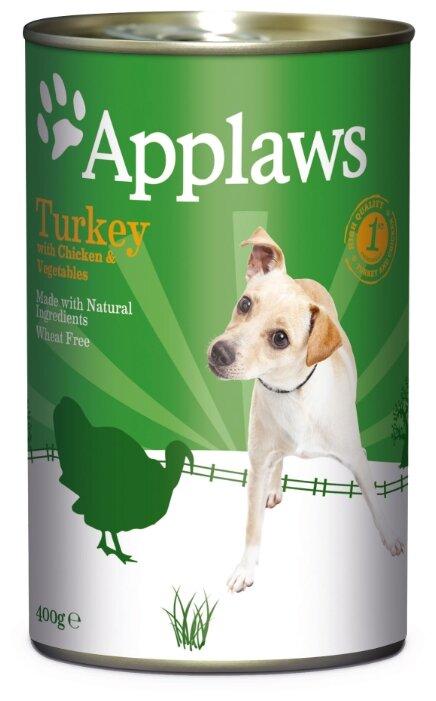 Корм для собак Applaws индейка, курица с овощами 400г