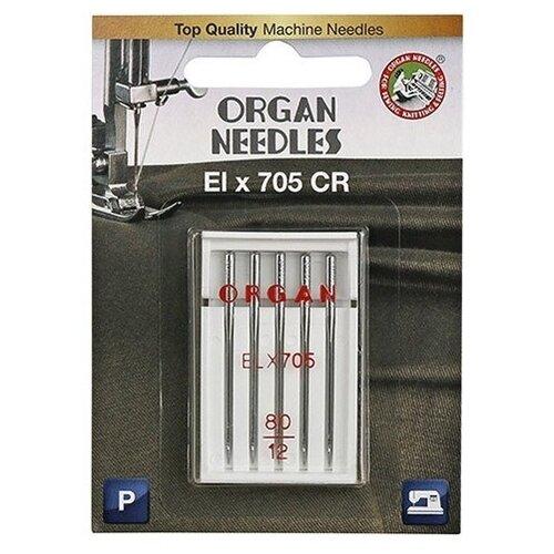 Игла/иглы Organ EL x 705 80 серебристый
