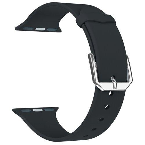 Фото - Lyambda Силиконовый ремешок Alcor для Apple Watch 38/40 mm black lyambda силиконовый ремешок alcor для apple watch 42 44 mm green