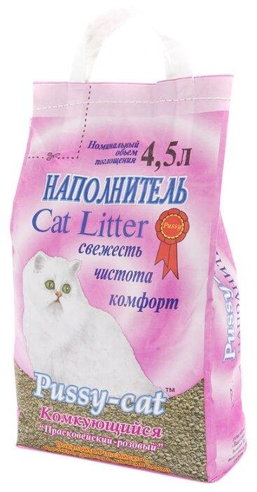 Наполнитель Pussy-Cat Комкующийся розовый (4.5 л)