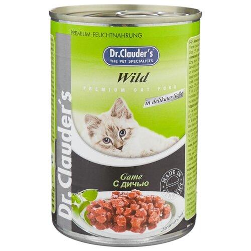 Корм для кошек Dr. Clauders (0.415 кг) 1 шт. Premium Cat Food консервы с дичьюКорма для кошек<br>