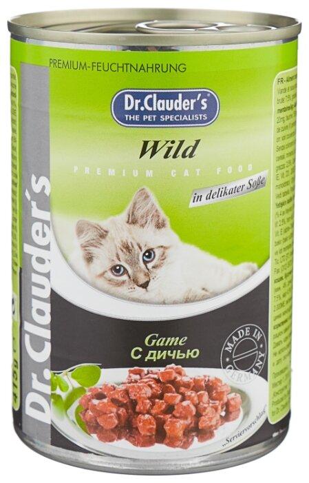 Корм для кошек Dr. Clauder's Premium Cat Food консервы с дичью