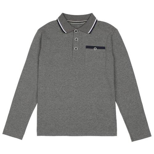 Купить Поло Luminoso размер 134, серый меланж, Футболки и майки