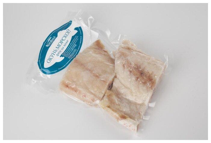 ВкусВилл Замороженный окунь филе на коже 600 г