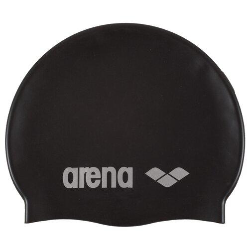 Шапочка для плавания arena Classic Silicone Cap 91662, black/silver