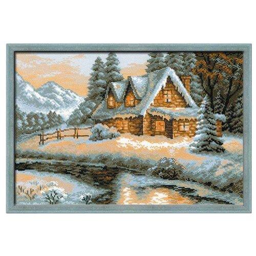 Купить Риолис Набор для вышивания крестом Зимний пейзаж 38 х 26 см (1080), Наборы для вышивания