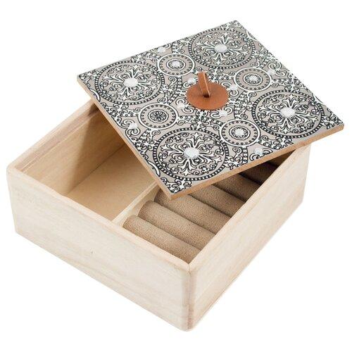 Русские подарки Шкатулка 38609 серый